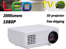 Wholesale Tv China Free Shipping - Wholesale-from china free shipping led hd multimedia mini projector,2000 lumens hd projetor full hd led tv proyector Input HDMI USB VAG AV
