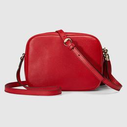 Wholesale Women Red Green Plain - Women Leather Soho Bag Disco Shoulder Bag Purse 308364