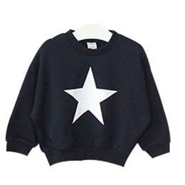 Wholesale Girl Sweater Star - Wholesale- Children's Clothing 2016 Autumn Fashion South Korea boys girls stars Pattern Jumper Baby kids Sweaters cotton fleece shirt