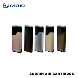 Wholesale cartridge kits - Authentic Suorin Air Starter Kits 16W 400mah Battery and 2ml Cartridge 100% Electronic Cigarette ecigs Kit
