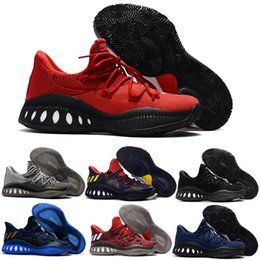 Wholesale Crazy Brown - Cheap Crazy Explosive Low Men's Basketball Shoes Red White Black Andrew Wiggins Crazy Explosive Youth Wall 3 Boost Sport Sneakers Size 7-12
