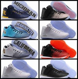 Wholesale California Leather - 2017 New 31 XXXI Low PE California Michigan George Basketball Shoes For Men 31s Basket Ball Mens Training Sports Sneakers Size 7-12