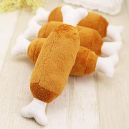 Wholesale Wholesale Drumsticks - Pet Toys High Quality Lovely Soft Double Bones Drumstick Shape Vocal Toy Puppy Appliance Hot Sale 2 7ml F R