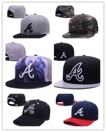 Wholesale Top Hats Sale Cheap - New hot cheap top Sale Navy7 Color Atlanta Braves Hats Men's Flat Fashion Sport Baseball Embroideried A Letter Full Closed Size Caps