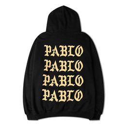 Wholesale Wholesale Long Fleece Hoodie - Wholesale-I Feel Like Pablo Hoodie Men Hoodies Long Sleeve Fleece The Life Of Pablo Sweatshirts Casual Top Sweatshirts