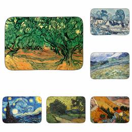 Классические картины онлайн-Ван Гог классические картины питомник фермы искусство коврик ванная комната кухня пол ковер декоративные гостиная автомобильные коврики вход Home Decor 40x60cm