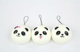 Wholesale Panda Keychains - Hot Fashion Kawaii Panda Key Chain Mobile phone Chain Cute 7cm Key Chain High Quality with Free Shipping