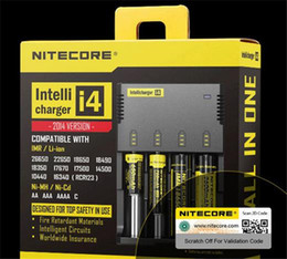 Wholesale Lithium Ion Car - New Nitecore I4 18650 Lithium Battery Charger Car Universal Digicharger for AA AAA Li ion 14500 26650 Batteries Charging