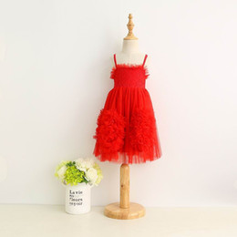 Wholesale Wholesale Ruffled Wedding Dresses - 2017 Summer New Girl Princess Dress Lace Cute Slip Dress Flower Party Wedding Dress Children Clothing 16129