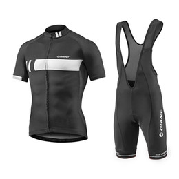 Wholesale Ropa Ciclismo Giant - 2017 New Men's Giant Team Cycling Clothing Quick Dry Bike Bicycle Short Sleeve Cycling Jerseys Compressed Ropa Ciclismo Size XS-4XL