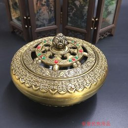 Wholesale Mail Money - Copper alloy disc incense burners incensory incense burner eight eight auspicious Buddha tea room decoration package mail