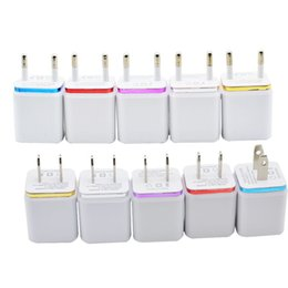 Wholesale Wholesale Blackberry Car Chargers - Metal Dual USB wall US plug 2.1A AC Power Adapter Wall Charger Plug 2 port for i7 i6 samsung galaxy note LG tablet ipad