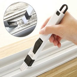 Wholesale Screen Cleaner Computer - Windows recess groove cleaning brush crevice brush with dustpan cleaning tool wash screens keyboard kitchen accessories Environmental protec