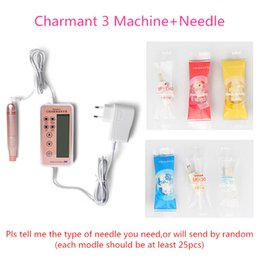 Wholesale Tattoo Packaging - Charmant 3 Embroidery Machine eyebrow tattoo machine for beauty Tattoo Needle included box package Plug-in Mode