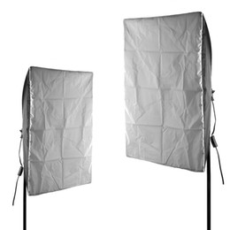 Wholesale E27 Video - 2x Photo Video Studio Softbox Kit F On Floor Lighting E27 Light Bulb Continuous