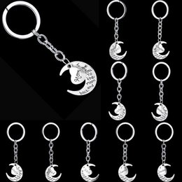 Wholesale Mixing Recording - New arrival Hot family members moon letters affectionate peach heart keychain key ring gift KR004 Keychains mix order 20 pieces a lot