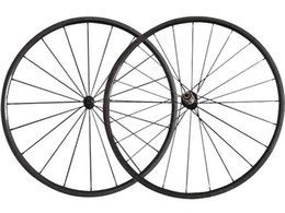 Wholesale 24mm Carbon Wheels - 1090g Only Super Light Road Bicycle Wheelset 700C full carbon Road Bike Wheels 23mm width 24mm Clincher tubular wheels Poweway R13 hub