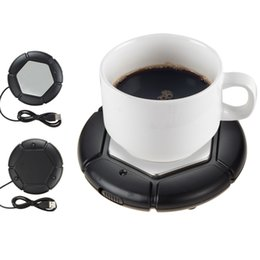 Wholesale Laptop Heat Pads - Original HONK Highly Temperature USB Cup Mug Warmer Coffee Milk Heating Tray Pad USB Warmer Stainless steel Plate for PC Laptops