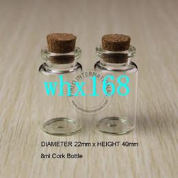 50 unids 8 ml pequeñas botellas de vidrio frascos frascos con tapones de corcho tapón decorativo tapado con corcho mini botella de vidrio para colgantes envío gratis desde fabricantes