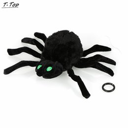 Wholesale Prank Toys For Kids - Wholesale-Prank Sound Activated Light up Climb Spider Electric Joke Halloween Horror Toys For kids Adult Gift