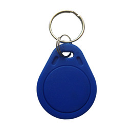 Wholesale Best Plastic Cards - Best cheapest Factory price make High quality TK4100 125khz 100pcs lot ISO11785 ABS RFID custom plastic key fob Key Ring Fob