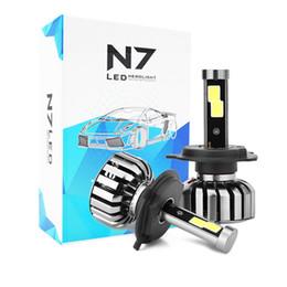 Wholesale Drl Light Kit - 2pcs COB Led headlight 80W 8000LM car LED conversion kit car DRL Headlight Conversion kit Bulb H1 H3 H4 H7 H8 H9 H11 9004 9005 9006 9007 880
