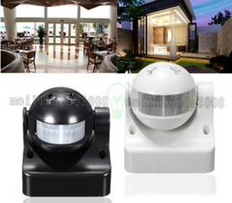 Wholesale Motion Sensor Light Detector Outdoor - Durable 12M 180 Degrees Auto PIR Motion Sensor Detector + Switch Home Garden Outdoor Light Lamp High Quality FREE SHIPPING MYY