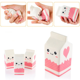 Wholesale Key Box Toy - Squishy Milk Bottle Milk Box Slow Rising Toy Relieve Stress Cake Sweet Food PU Cell Phone Strap Phone Pendant Key Chain Toy Gift