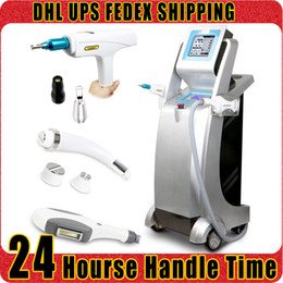 Wholesale Radio Frequency Ipl - E-light IPL Painless Hair Removal RF Radio Frequency Skin Rejuvenation Yag Laser Tattoo Removal Beauty Machine for Spa