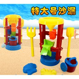 Wholesale Oversized Hourglass Shower Shovel Rake Animal Model Kids Beach Sand Play Tools Safe Plastic Toys