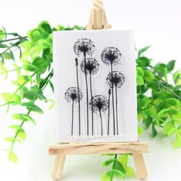 Wholesale Glass Making Supplies - Wholesale- Lovely Dandelion Transparent Clear Silicone Stamps for DIY Scrapbooking Card Making Kids Christmas Fun Decoration Supplies