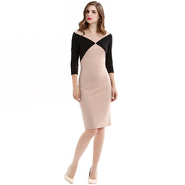 Wholesale Dress Suit Skirt Slim Women - Autumn new Europe and the United States fashion hit the color big big suit zipper dress color slim v-neck pencil skirt AMS010