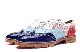 Wholesale Shoes Tires - New Arrival 100% Brand New Split Small Rivets Tires Sole Comfortable Men Shoes Casual Lous Sneakers Shoes, 36-46