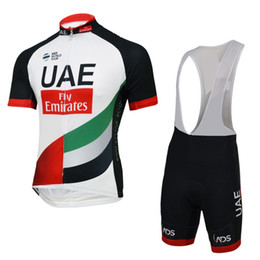Wholesale Pro Compress - 2017 uci pro team UAE fly Emirates cycling jersey and GEL PAD bib short summer quick dry cloth MTB Ropa Ciclismo Bicycle maillot
