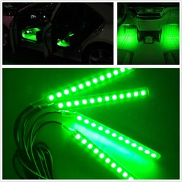 Wholesale car interior decorative strip - 2017 Up-Date7 Colors 4X12 LED Car SUV Interior Footwell Neon Decorative Atmosphere Light Strips Free Shipping