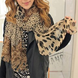 Wholesale Wholesale Leopard Print Scarf - Wholesale-Hot Sale Silk Scarf Cashmere Chiffon Scarf Animal Print Super Star Style Leopard Shawl Brand Designer Scarves and Stoles Scarf