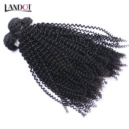 Wholesale Indian Curly Hair Wefts - Indian Kinky Curly Virgin Hair Weaves Bundles 3Pcs Unprocessed Indian Kinky Curly Human Hair Extensions Natural Black Double Wefts Soft Full