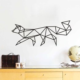 Wholesale Dog Vinyl Wall Decals - Estrella Dog Shaped Wallpaper Linear Pattern Series Products Home Decor Wall Art Stickers Simple Fashion Decoration Free Shipping