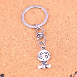 2019 baby boy llaveros Nueva Moda bebé niño Llaveros Vintage Antique silver plated Keyholder moda Sólido Colgante Llavero de regalo rebajas baby boy llaveros