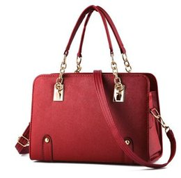 Wholesale Cheap Designer Ladies Bags - 2017 luxury brand new women lady tote handbag designer shoulder bag 8 colors fashion accessory cheap