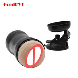 Wholesale Men Prolong - Hands-free Male Masturbator Silicone Realistic Vagina Real Pussy Aircraft Cup Sex Toys For Men Prolong Ejaculation Trainer