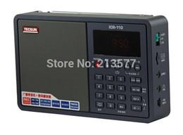 Wholesale Tecsun Free Shipping - Wholesale-Free Shipping, Famous TECSUN Mini Portable Radio ICR110 AM FM RADIO  RECORDER  MP3 WMA WAV PLAYER USB Mini Speaker
