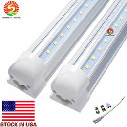 Wholesale Led Lighting Lamps China - 2 ft T8 Integrated 18W V Shaped LED Tube Lights Lamps AC85-265V 0.95PF Canada 96LEDs 95LM W Direct Shenzhen China Factory Wholesale