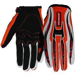 Wholesale Wholesale Biker Gear - Wholesale- Pro Biker Outdoor High Quality Motorcycle Gloves Full Finger Moto Motorbike Motocross 4 Colors Soft Protective Gear Racing Glove