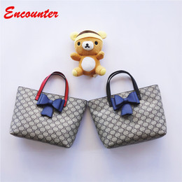 Wholesale Kids Fashion Mini Tote Bags - Encounter Kids Unique Design Handbags for Party Childrens Brand Small Shopping Totes Little baby girls purse Toddlers kid Bow bags EN089