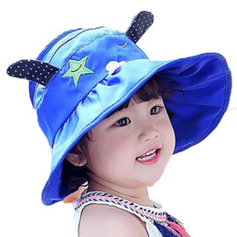 Wholesale Dog Baby Children Cap - Wholesale 5 pcs Unisex Without Bucket Hats Baby Children Dog Design Fisherman Caps Spring Summer Sun Protective Hat 2017 new MZ4598