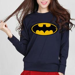 Wholesale Batman Sweatshirt Woman - 2016 new autumn fashion Cartoon Batman printed female sweatshirt hoodies slim tracksuit women harajuku brand kawaii punk hoody