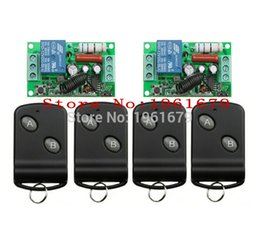Wholesale learning rf remote control - Wholesale- RF Wireless Remote Control AC 220 V 10 A 1 channel 2 Receiver +4 Transmitter Learning code simple operation
