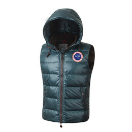 Wholesale Mens Vests Xs - 2017 Brand New Advanced Fabric Fashion Bodywarmer Winter Warm Mens Real Duck Feather hooded Down Vest