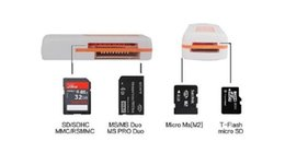 Wholesale Micro Sd Ms Adapter - Multi Card Reader adapter memory card small multi-purpose 4 in 1 High Speed USB 2.0 Micro SD card T-Flash MS M2 TF